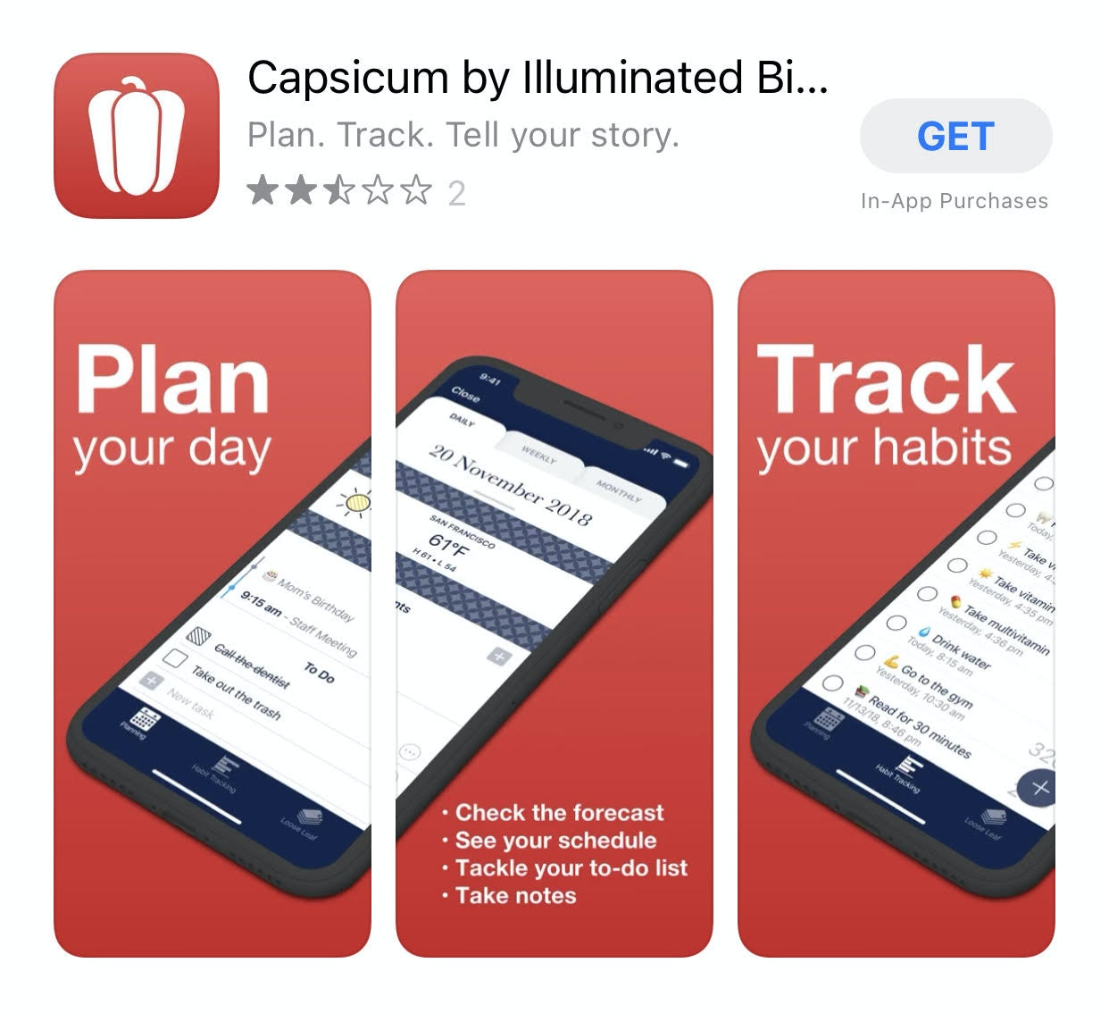 Capsicum app iPhone