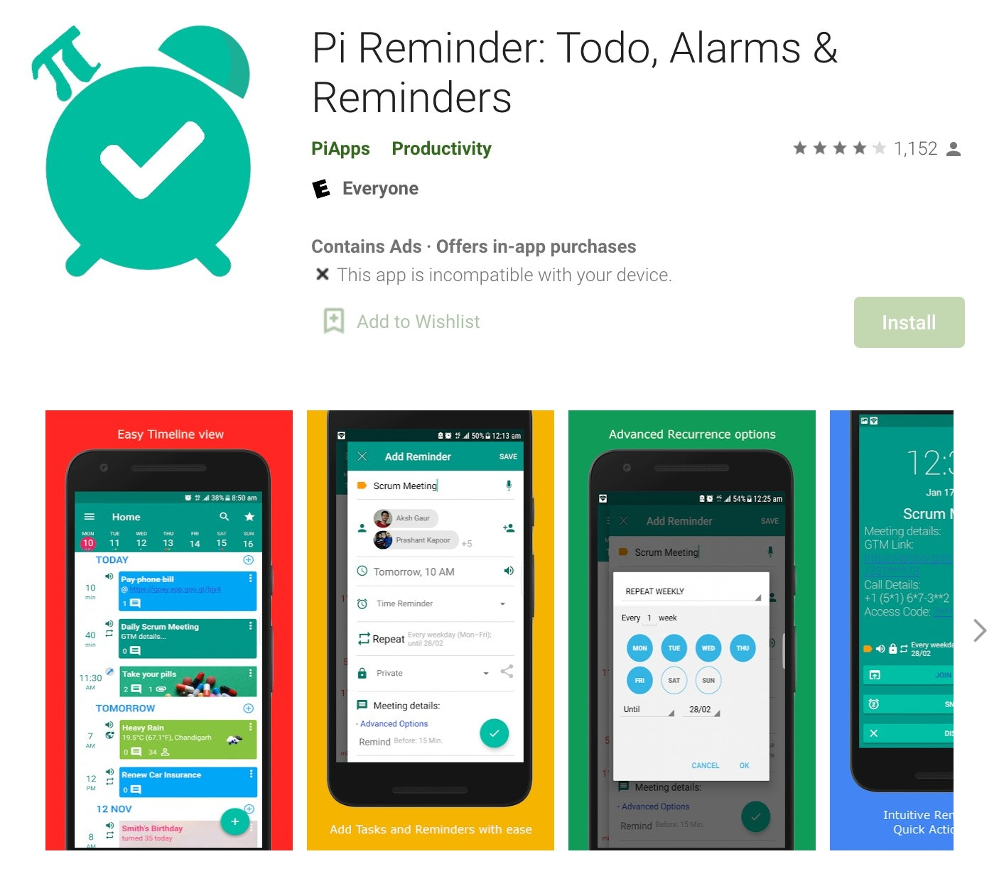 Pi Reminders Android
