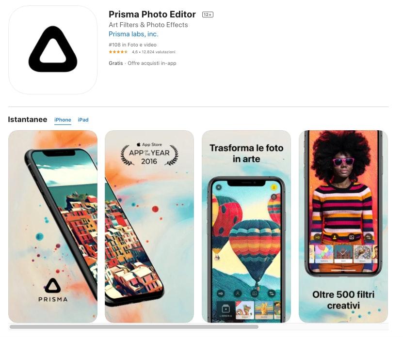 Prisma: migliori app per modificare foto iOS e Android
