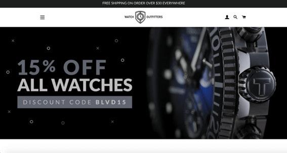 página inicial da Watch Outfitter