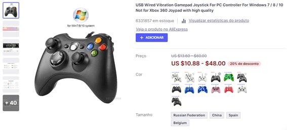 O que vender para ganhar dinheiro: joystick