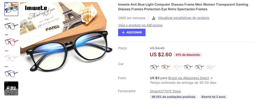 O que vender para ganhar dinheiro: óculos