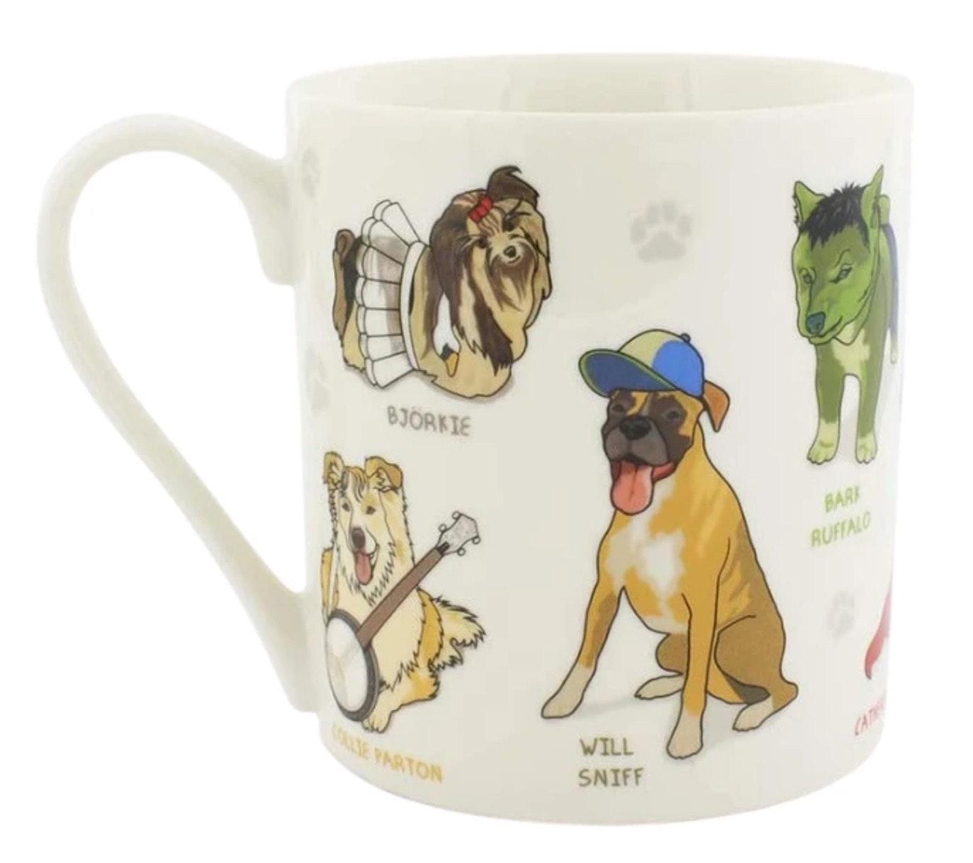 celebrity dog mug