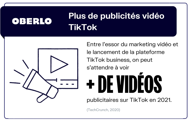 Tik Tok tendance vidéo Ads