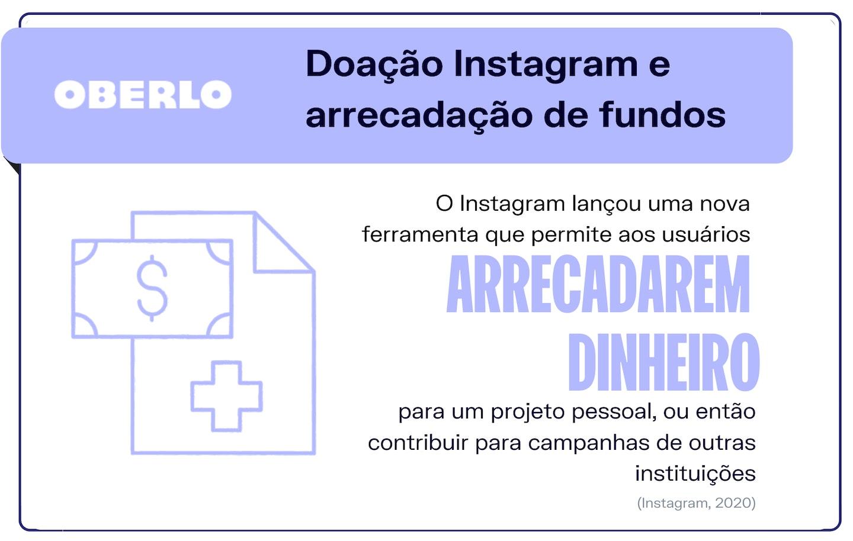 Tendências do Instagram: doação Instagram e arrecadação de fundos