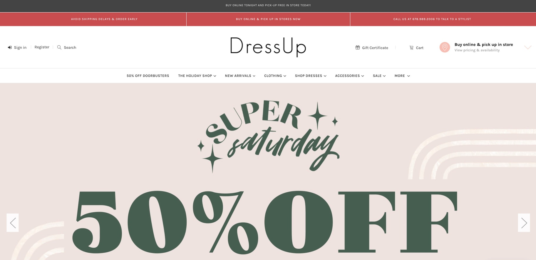 dressup online store