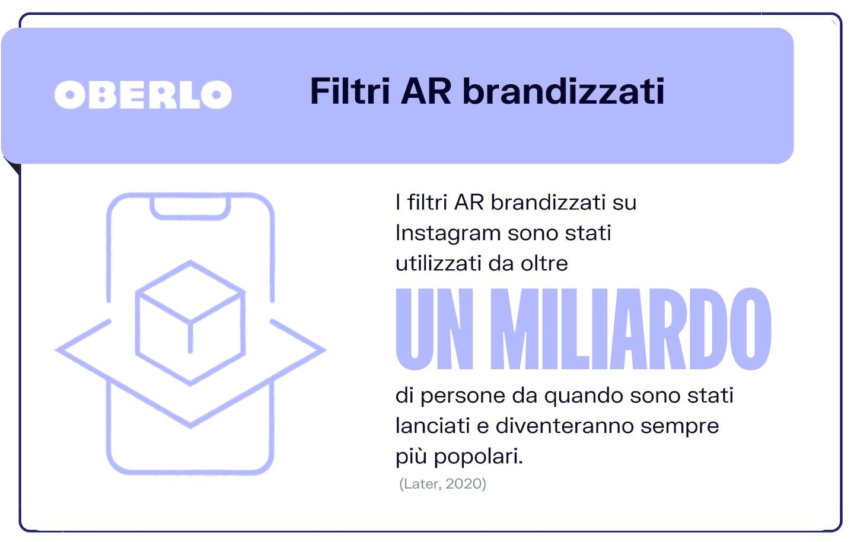 Filtri AR brandizzati instagram