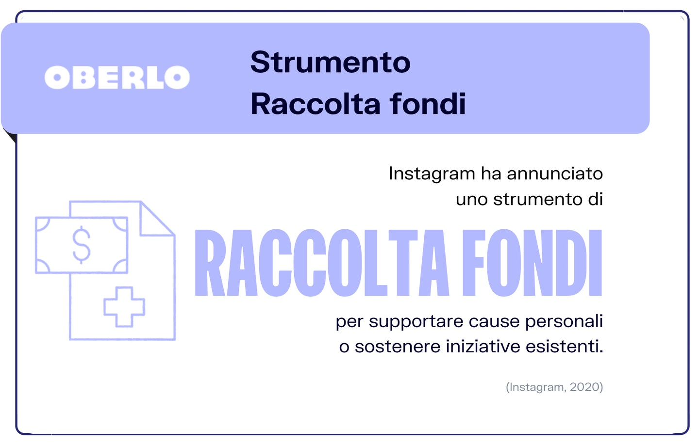strumento raccolta fondi Instagram