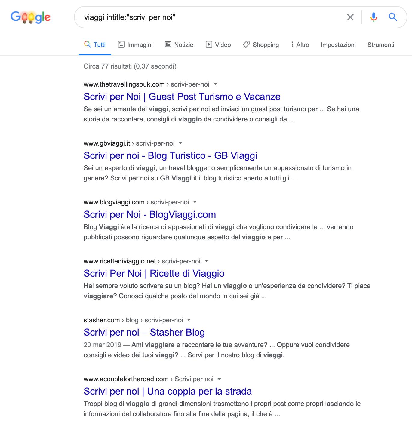 backlink ricerca di guest post