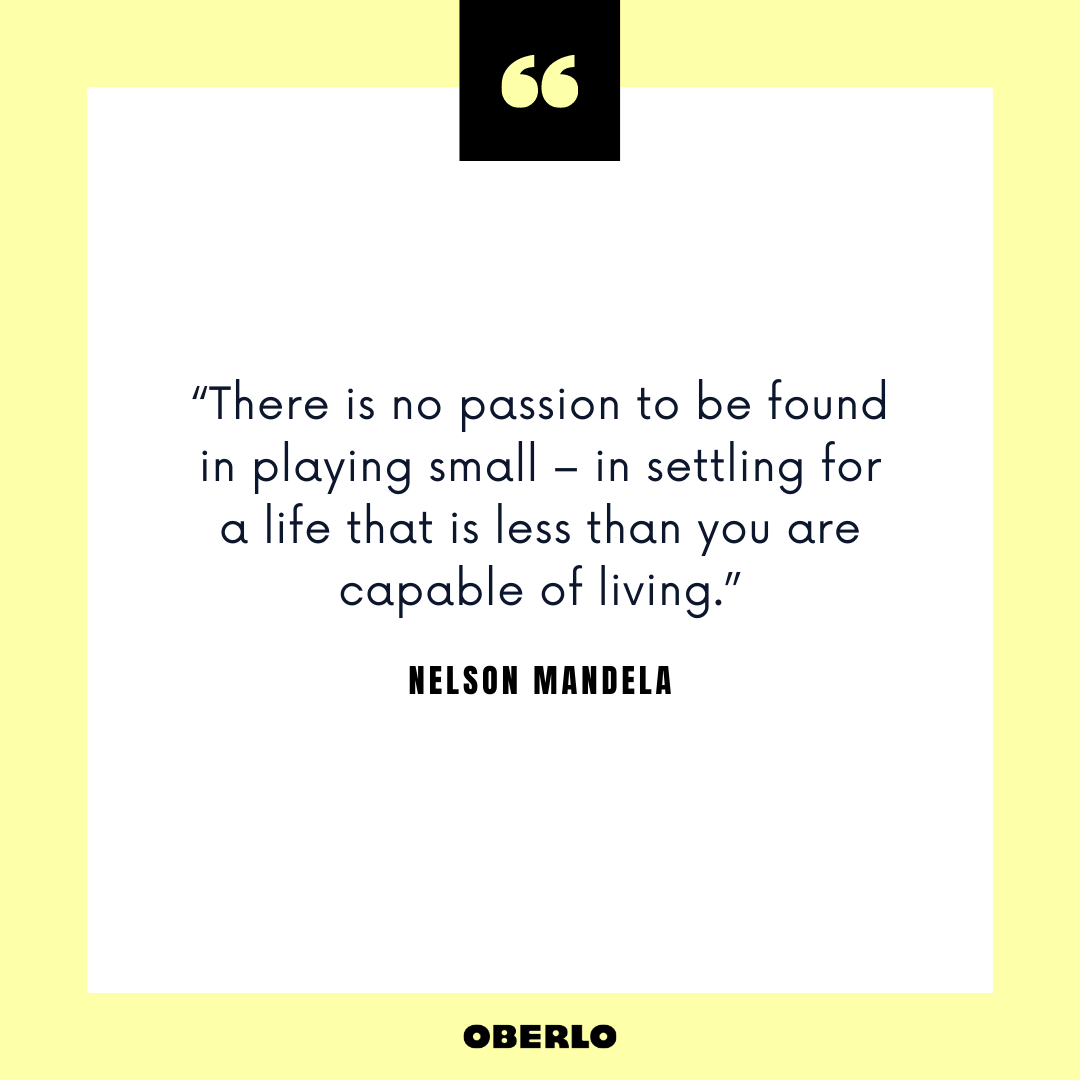 Job Change Advice: Nelson Mandela Quote