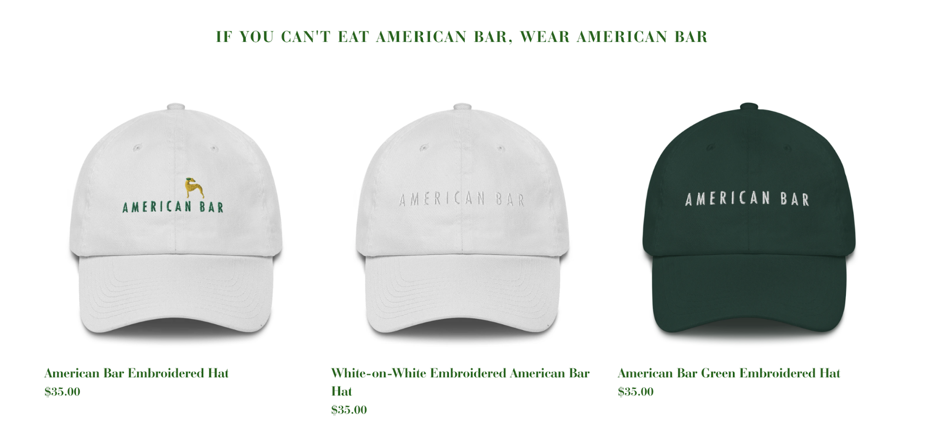 Help Small Businesses: American Bar Merchandise