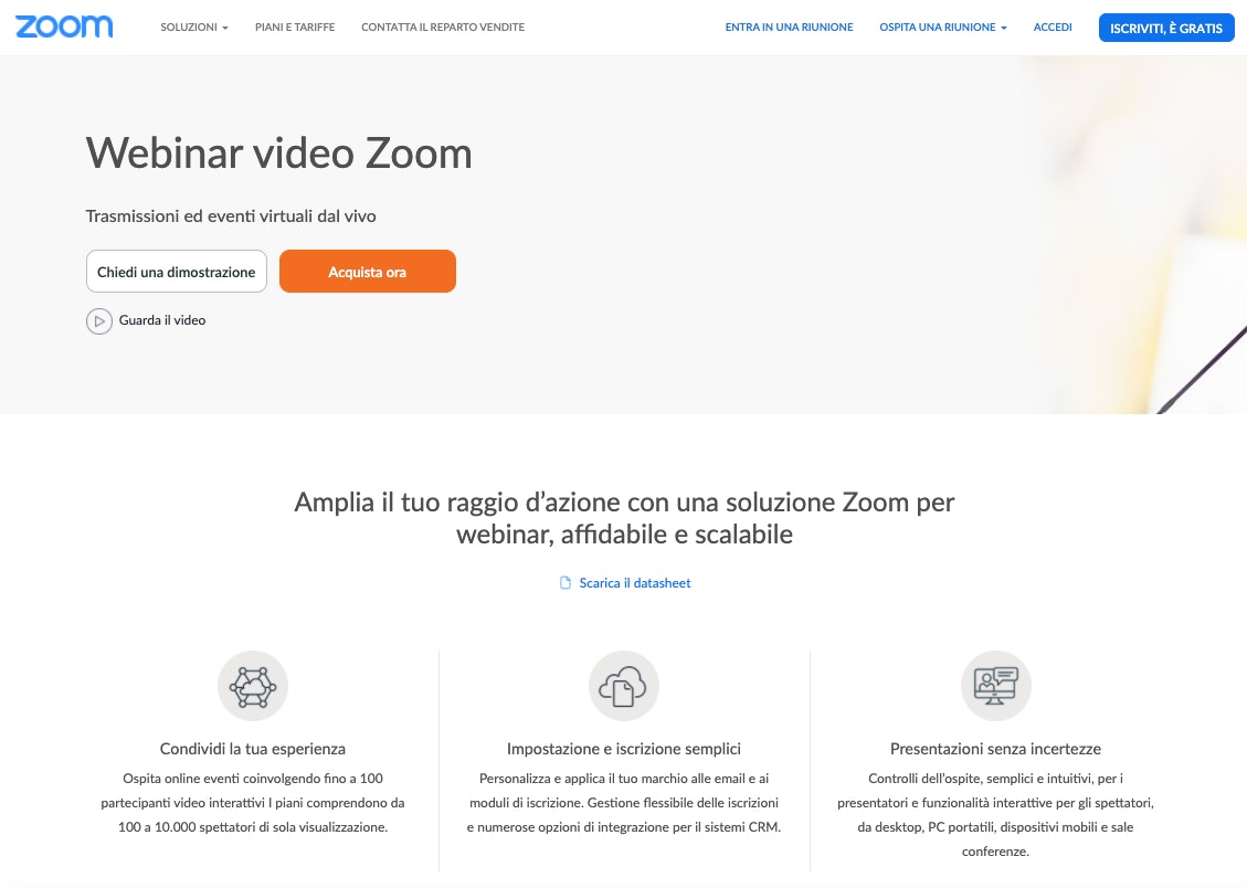 Piattaforme per Webinar: Zoom