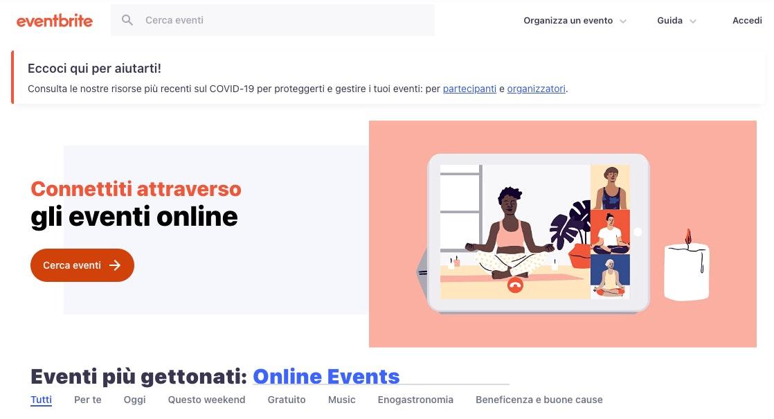 Promozione webinar con Eventbrite