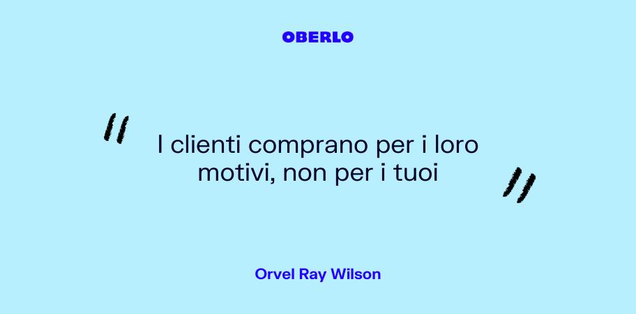 mercato di riferimento: citazione Orvel Ray Wilson