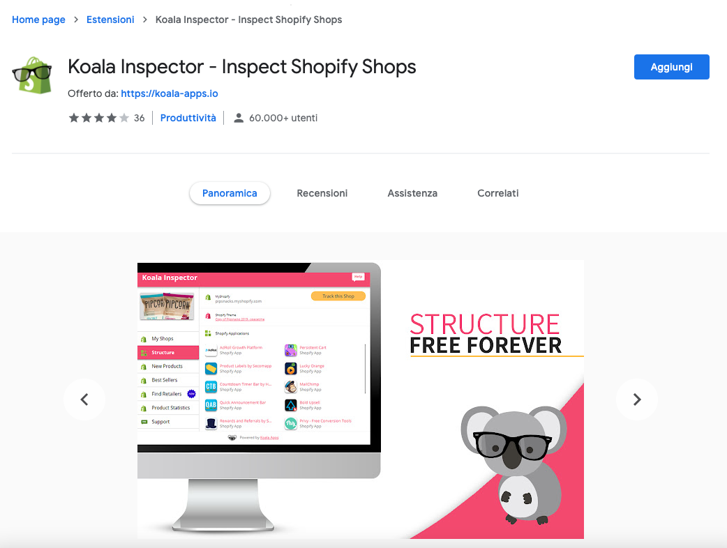 koala shopify Inspector