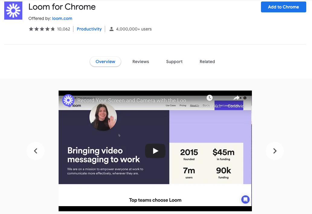 Estensioni Google Chrome: Loom