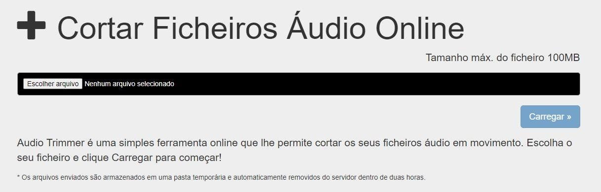 Editor de áudio online: Audio Trimmer