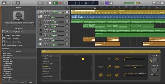 Editor de áudio para Mac: GarageBand