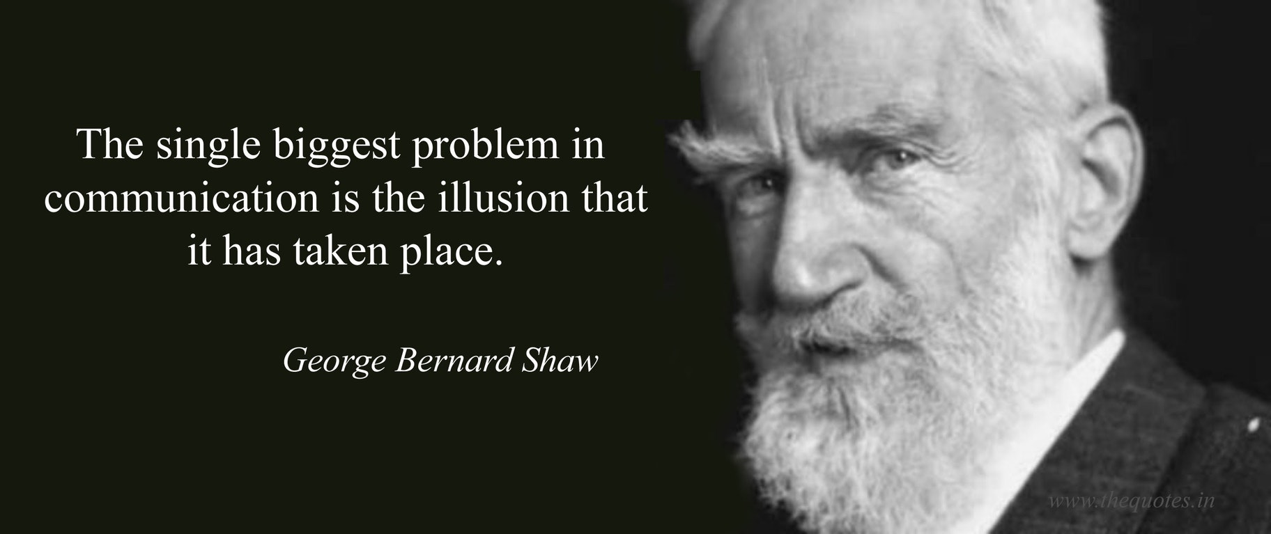 George Bernard Shaw quote communication