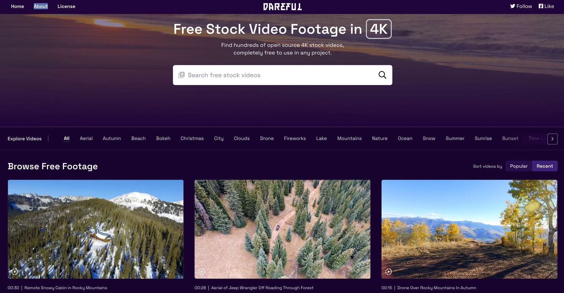 Dareful free 4k stock videos