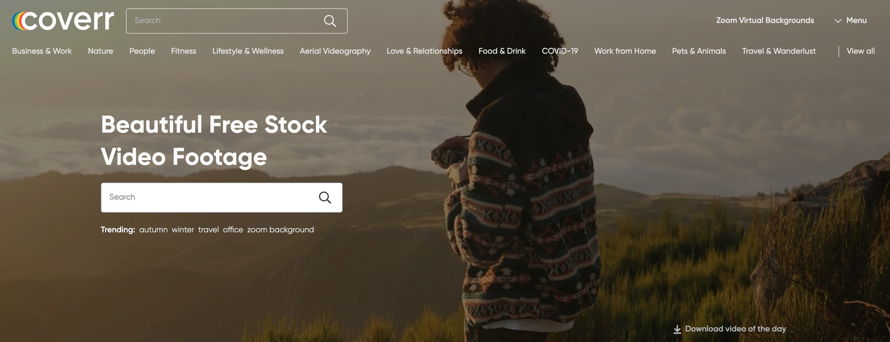 coverr free stock video site