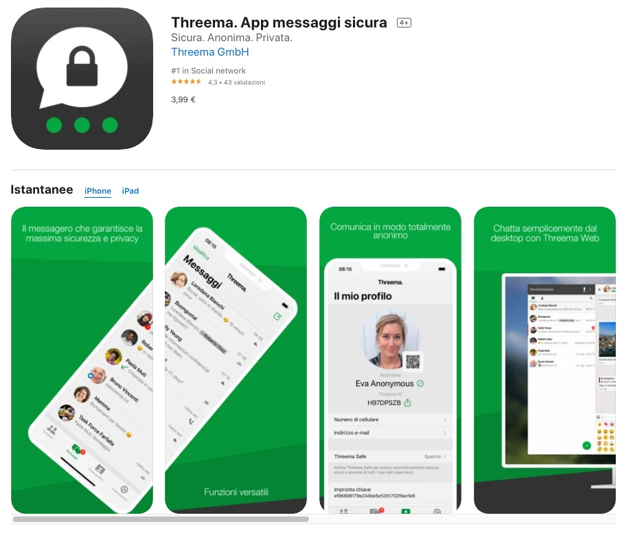 alternative a whatsapp: threema