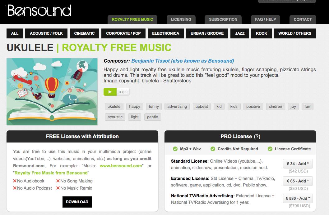 musique gratuite libre de droit