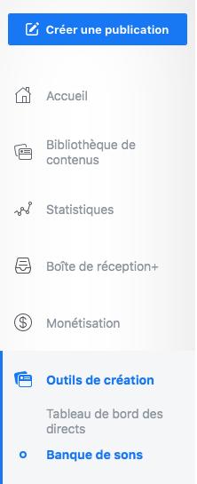banque de son gratuite facebook