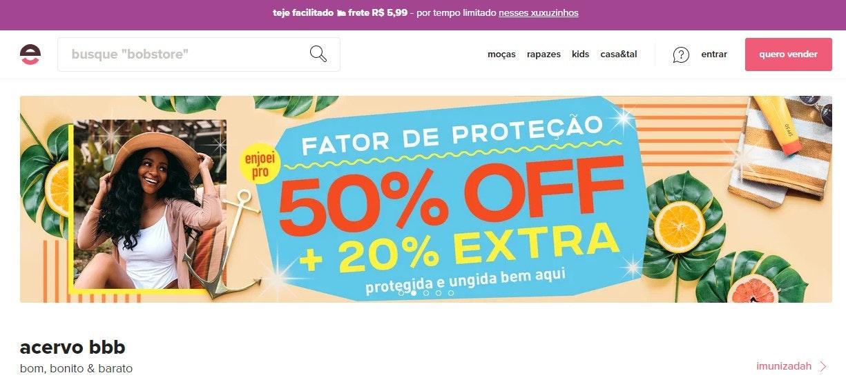 Melhores sites de compras online: Enjoei