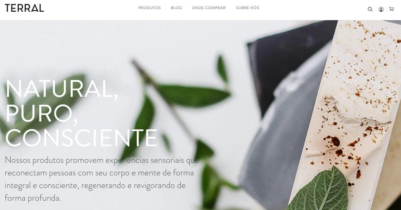 Site de compras online: Terral Natural