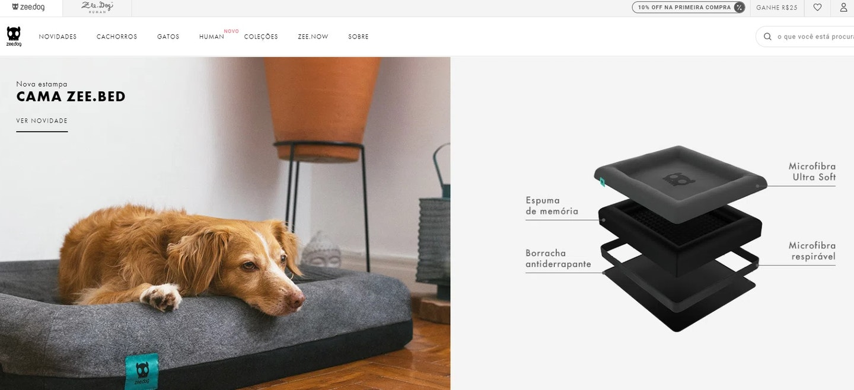 Sites de compras: Zee.Dog