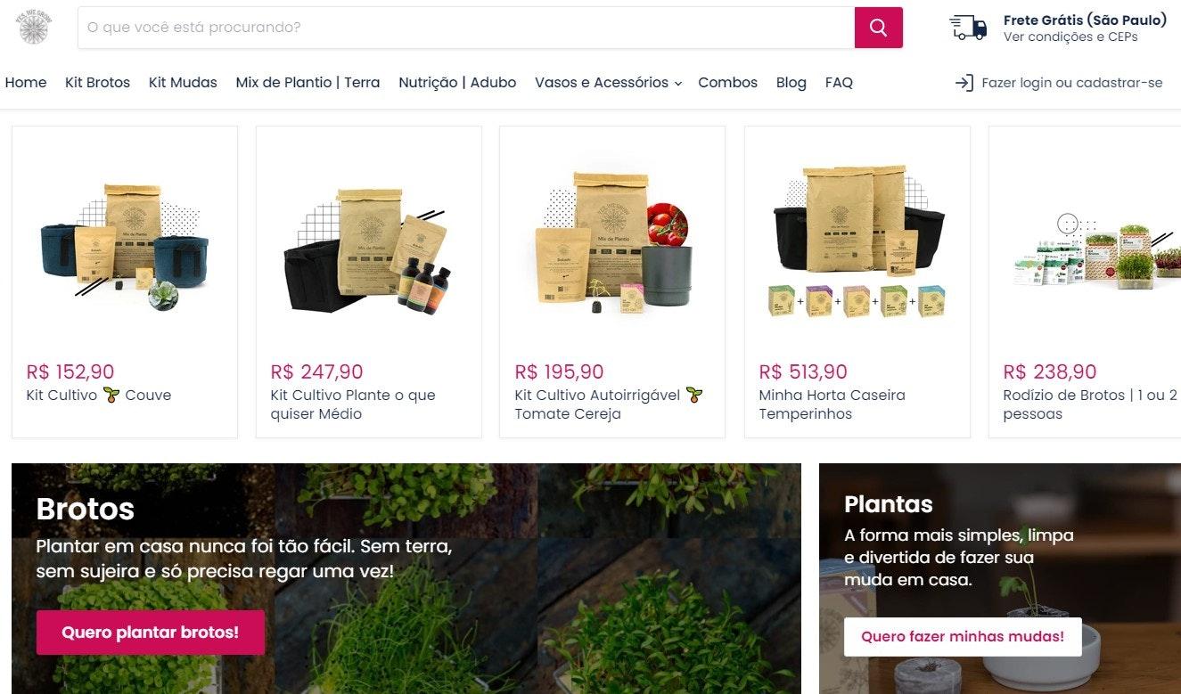 Melhores sites de compras online: Yes, We Grow
