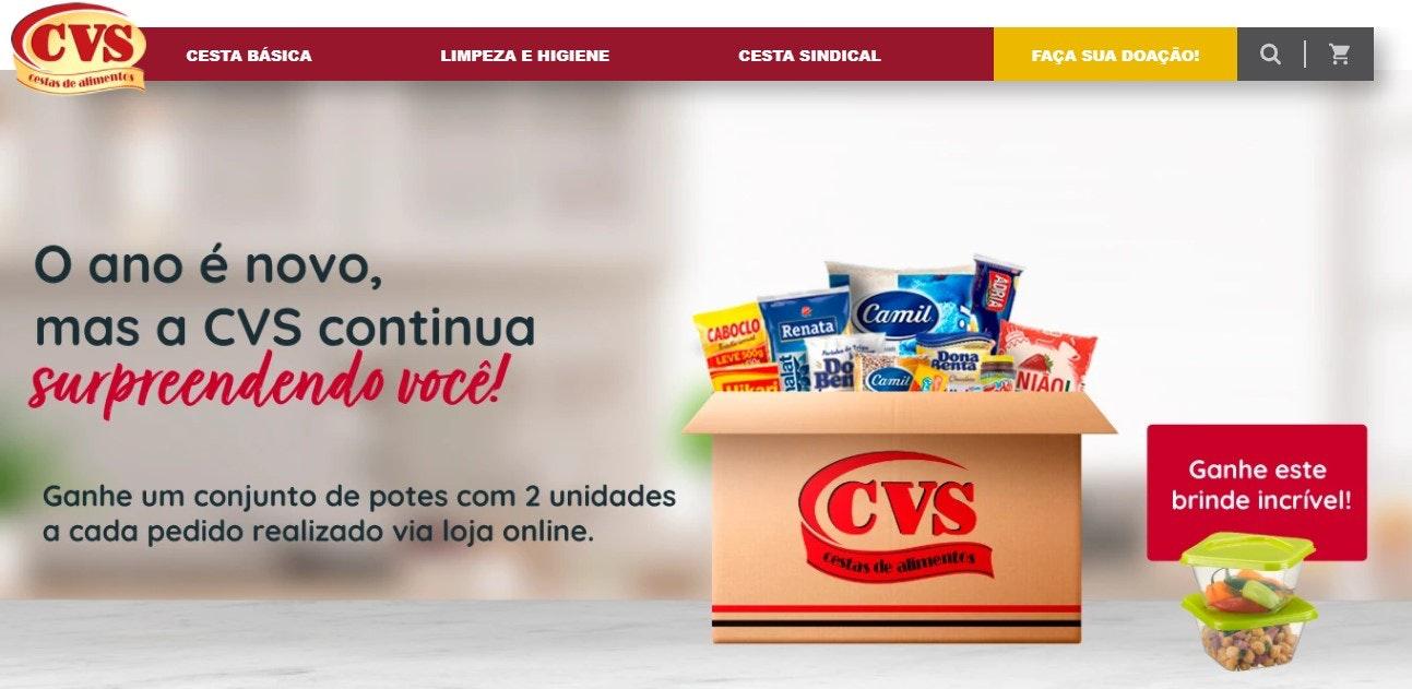 Melhores sites de compras online: CVS