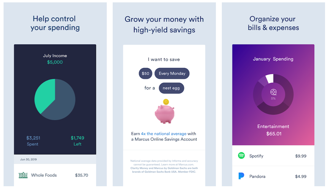 monthly budget app clarity money