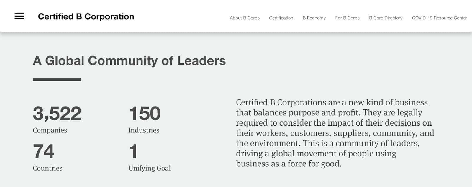 Social Entrepreneurship Certifications BCorp