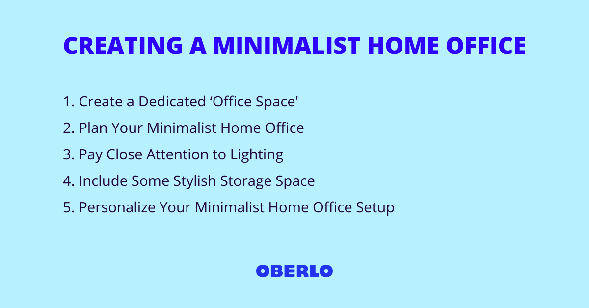 CREATING A MINIMALIST HOME OFFICE