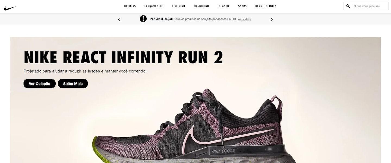 Missão, visão e valores da Nike