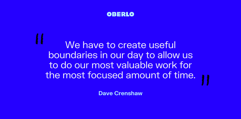 Dave Crenshaw on creating time boundaries