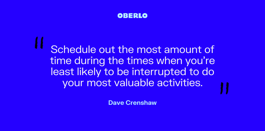 Dave Crenshaw on time management