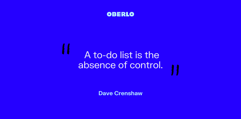 Dave Crenshaw on to-do lists