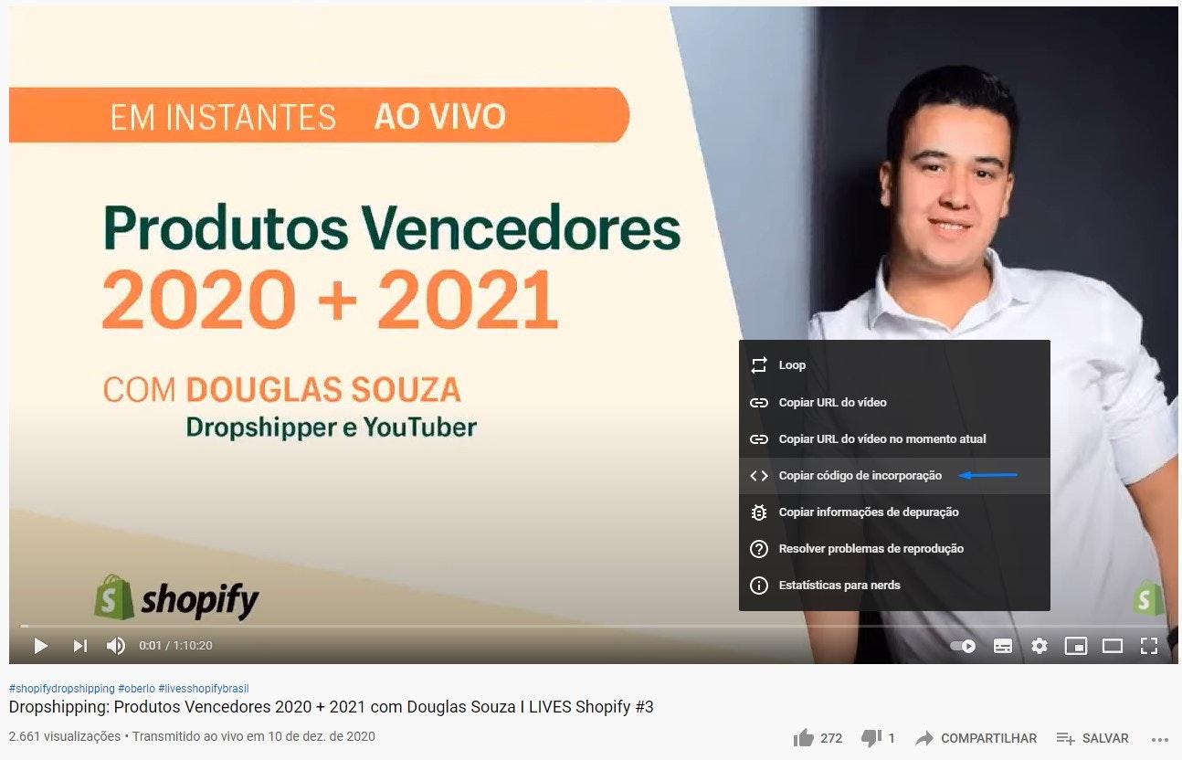 Ganhar visualizações no YouTube: ative os códigos de incorporação dos vídeos