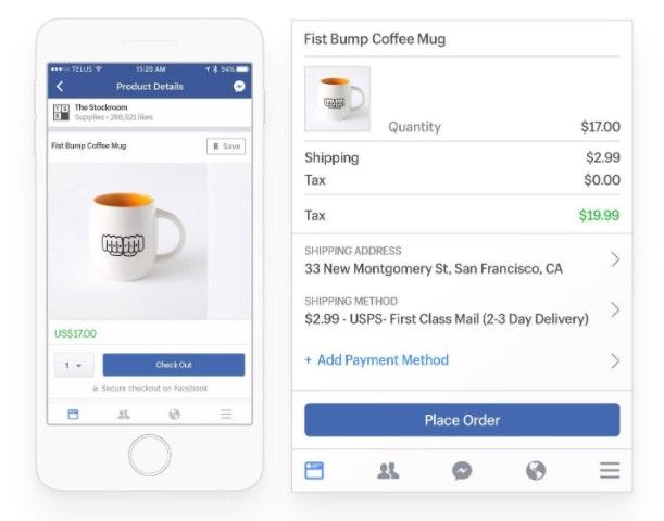 Lier produits dans Facebook Live