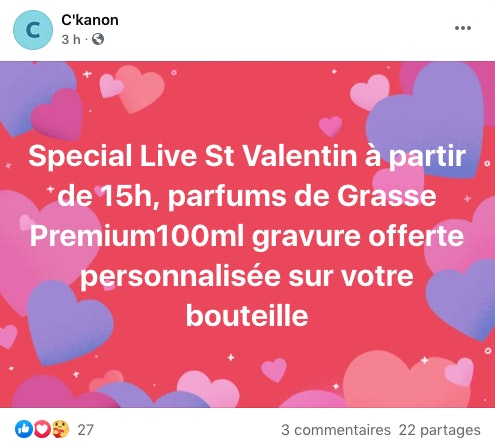 Exemple promo live