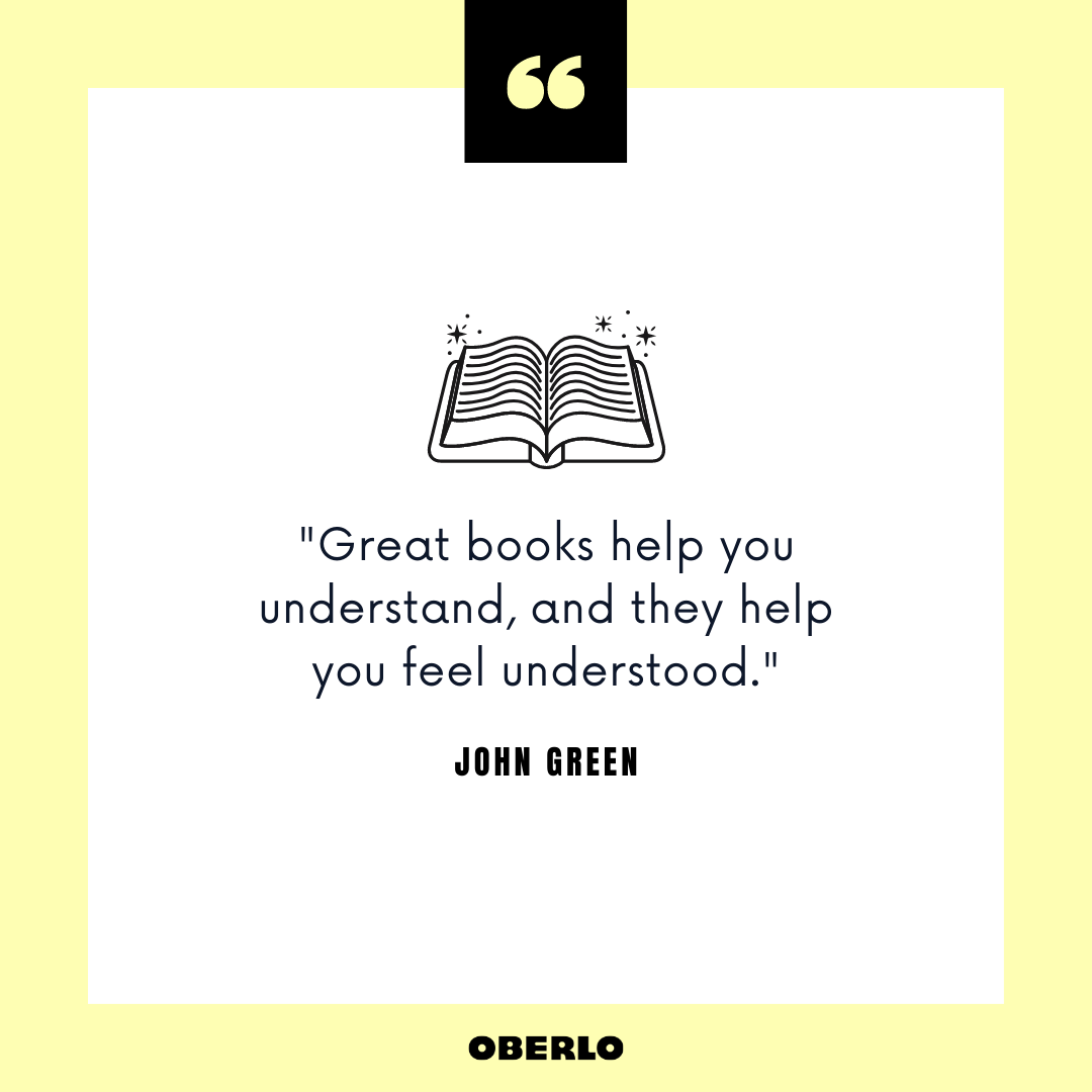 What Are the Benefits of Reading Books: John Green Quote