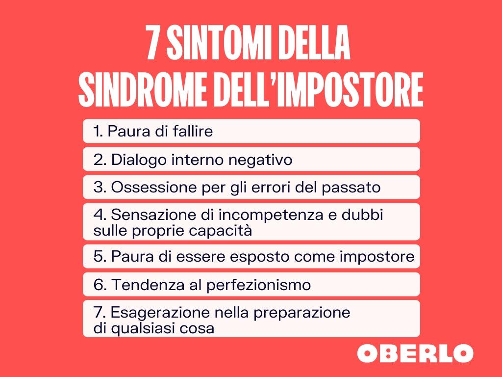 sindrome dell'impostore: 7 sintomi
