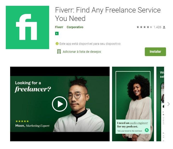 App para ganhar dinheiro: Fiverr