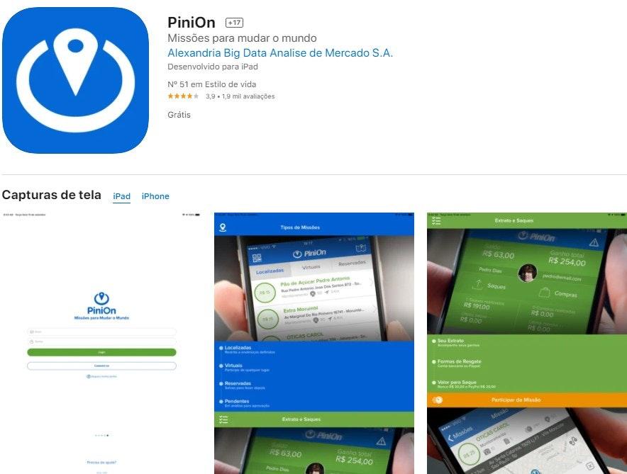 App para ganhar dinheiro: PiniOn