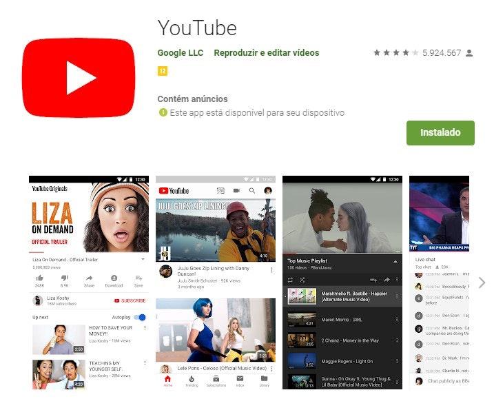Aplicativos para ganhar dinheiro: YouTube