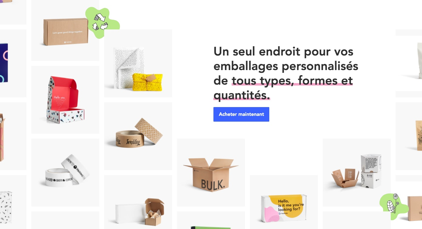 Fournisseur packaging exemple