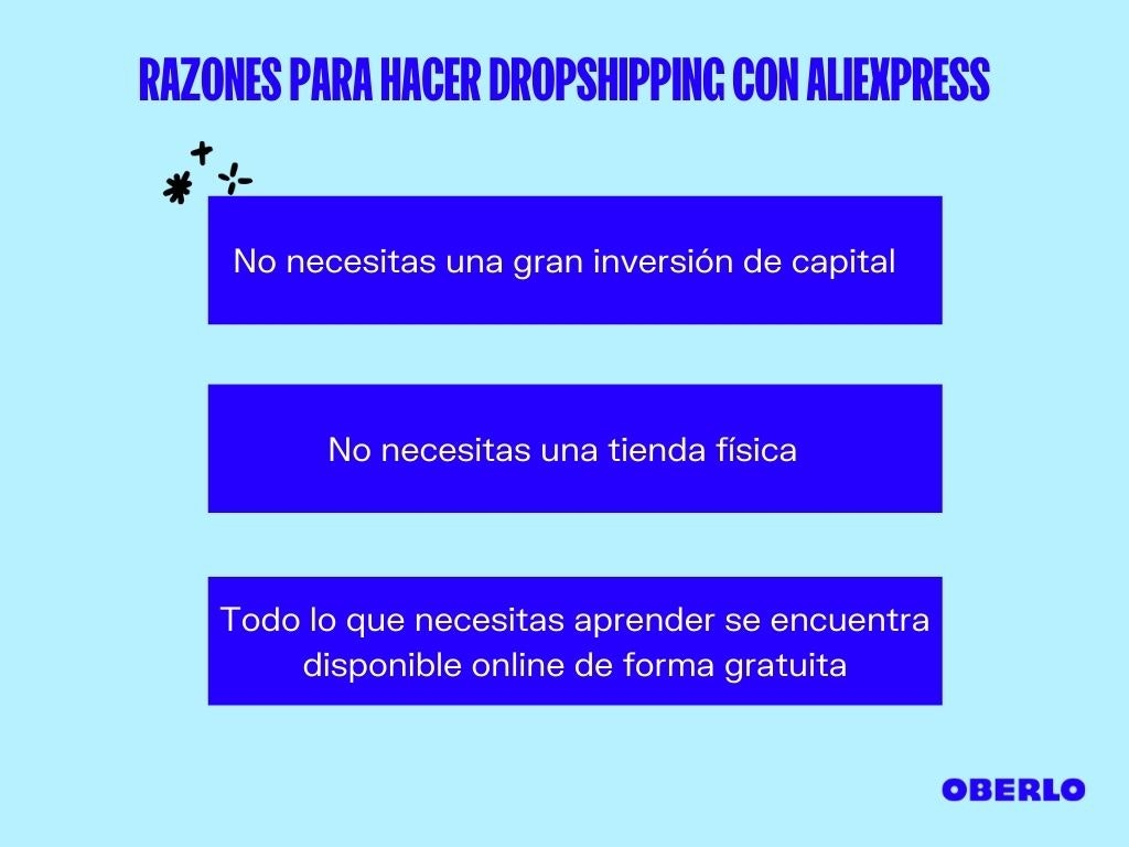 razones para hacer dropshipping con aliexpress